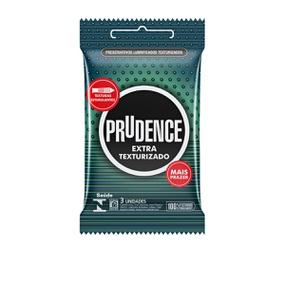 Preservativo Prudence Extra Texturizado 3un (16983) - Padrão - atacadostar.com.br