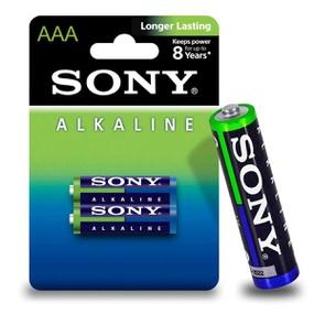 Pilha Palito AAA Alcalina 2un Sony (17010) - Padrão - atacadostar.com.br