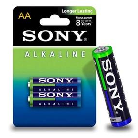 Pilha Pequena AA Alcalina 2un Sony (17011) - Padrão - atacadostar.com.br