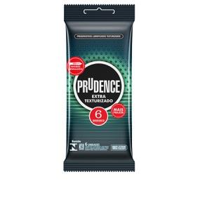 Preservativo Prudence Extra Texturizado 6un (17026) - Padrão - atacadostar.com.br