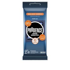 Preservativo Prudence Super Sensitive 6un (17027) - Padrão - atacadostar.com.br