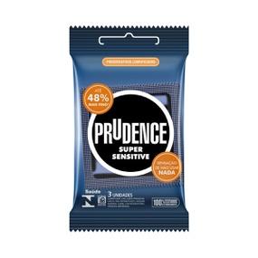 Preservativo Prudence Super Sensitive 3un (17035) - Padrão - atacadostar.com.br