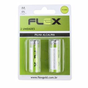 Pilha Pequena AA Alcalina 2un Flex (FX-AAK2-17210) - Padrão - atacadostar.com.br