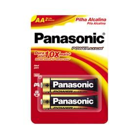 Pilha Pequena AA Alcalina 2un Panasonic (17234) - Padrão - atacadostar.com.br