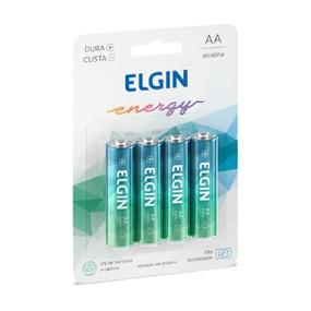Pilha Pequena AA Alcalina 4un Elgin Energy (17417) - Padrão - atacadostar.com.br