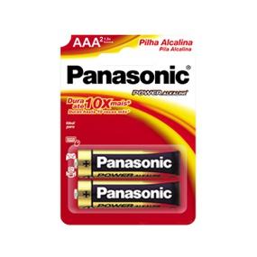 Pilha Palito AAA Alcalina 2un Panasonic (17489) - Padrão - atacadostar.com.br