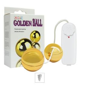 Bolinha Ben-Wa Com Vibro Golden Ball SI (5242) - Dourado - atacadostar.com.br