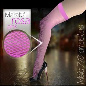 *Meia 7/8 Arrastão Marabá (MB001) - Rosa Pink - atacadostar.com.br