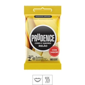 Preservativo Prudence Cores e Sabores 3un (ST128) - Melão - atacadostar.com.br