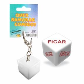 Dado Chaveiro (DC-ST265) - Quer Namorar Comigo - atacadostar.com.br