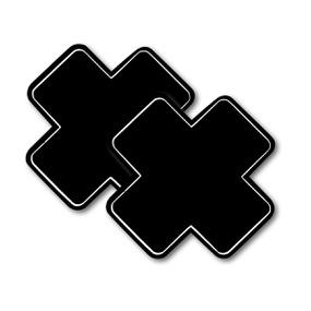 Tapa Mamilo Em X 50 Tons (TO0014-ST661) - Preto - atacadostar.com.br