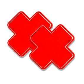 Tapa Mamilo Em X 50 Tons (TO0014-ST661) - Vermelho - atacadostar.com.br