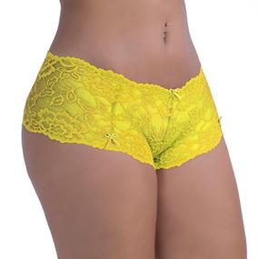*Calcinha Calesson Obsessão ( OB004 ) - Amarelo - atacadostar.com.br