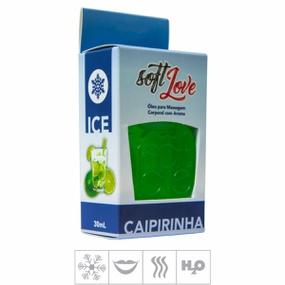 **Gel Comestível Soft Love Ice 30ml (ST117) - Caipirinha - atacadostar.com.br