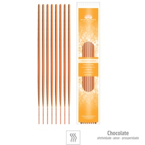 Incenso Artesanal 8 Varetas (st133) - Chocolate - atacadostar.com.br