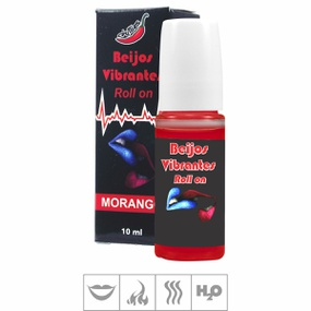 Gloss Roll-On Beijos Vibrantes 10ml (ST260) - Morango - atacadostar.com.br