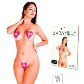Tapa-Sexo Comestível Karamela Formato Coração (ST594) - Mor... - atacadostar.com.br