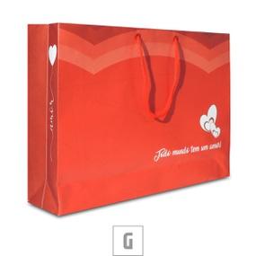 Sacola Para Presente Grande 27x9cm (17506) - Vermelho - lojasacaso.com.br