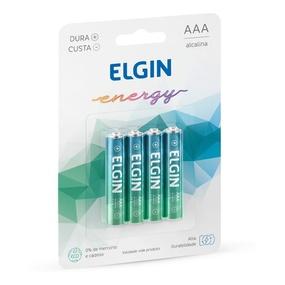 Pilha Palito AAA Alcalina 4un Elgin Energy (17416) - Padrão - lojasacaso.com.br