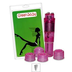 *Mini Massageador Com 4 Capas Green Baby SI (5174) - Rosa - lojasacaso.com.br