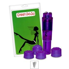 *Mini Massageador Com 4 Capas Green Baby SI (5174) - Roxo - lojasacaso.com.br
