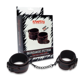 Tornozeleira Com Corrente Bondage Fetiche Si (5681) - Preto - lojasacaso.com.br