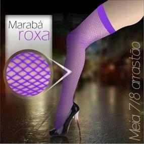 *Meia 7/8 Arrastão Marabá (MB001) - Roxo - lojasacaso.com.br