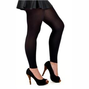 Meia Legging Lisa Com Elastico (PR036) - Preto - lojasacaso.com.br