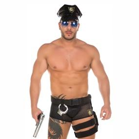 Fantasia Policial Masculina (PS1123) - Padrão - lojasacaso.com.br