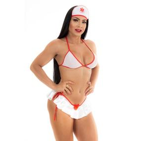 Fantasia Mini Enfermeira (PS3338) - Padrão - lojasacaso.com.br
