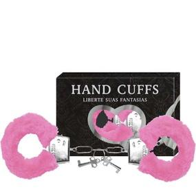 Algema Com Pelucia Hand Cuffs (AL001-ST192) - Rosa - lojasacaso.com.br