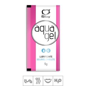 Lubrificante Beijável Aqua Gel Sachê 5g (ST620) - Chiclete - lojasacaso.com.br