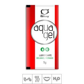Lubrificante Beijável Aqua Gel Sachê 5g (ST620) - Morango - lojasacaso.com.br