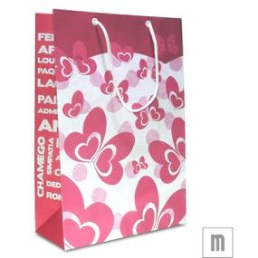 Sacola Para Presente Média 31x10cm (17457-ST714) - Rosa - lojasacaso.com.br