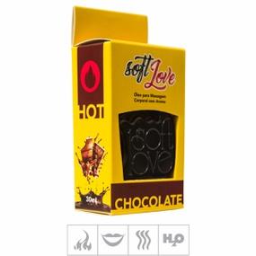**Gel Comestível Soft Love Hot 30ml (ST116) - Chocolate - lojasacaso.com.br