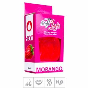 **Gel Comestível Soft Love Hot 30ml (ST116) - Morango - lojasacaso.com.br