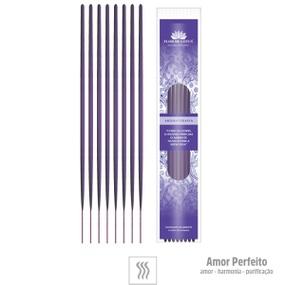 Incenso Artesanal 8 Varetas (ST133) - Amor Perfeito - lojasacaso.com.br
