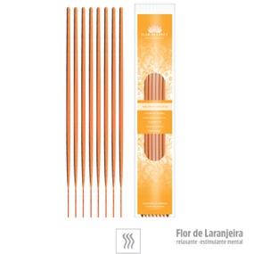 Incenso Artesanal 8 Varetas (ST133) - Flor de Laranjeira - lojasacaso.com.br