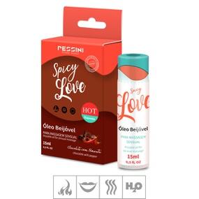 Gel Beijável Spicy Love Hot 15ml (ST490) - Chocolate c/ Pime... - lojasacaso.com.br