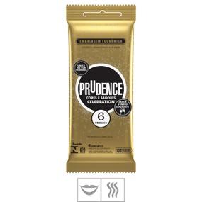 Preservativo Prudence Celebration 6un (14758) - Vinho Espuma... - PURAAUDACIA