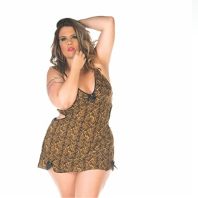 Camisola Lu Estampas Variadas (PS2015) - Onça - PURAAUDACIA