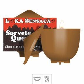 Vela Beijável Sorvete Quente 30g (ST148) - Chocolate c/ Pime... - PURAAUDACIA