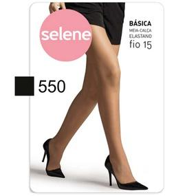 Meia Calça Básica Selene Fio 15 (ST372) - Preto - PURAAUDACIA