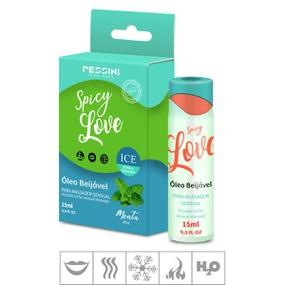 Gel Beijável Spicy Love Ice 15ml (ST491) - Menta - PURAAUDACIA