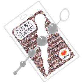 Plug Bol Com 5 Esferas SF (EL003-ST630) - Translúcido - PURAAUDACIA
