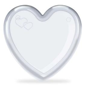 Embalagem de Coração Acrílico Para Kit (15002) - Padrão - tabue.com.br