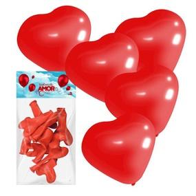 Balões do Amor Formato Coração 10un (16372) - Vermelho - tabue.com.br