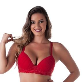 Soutien Duanip Com Detalhe No Bojo (DU718) - Vermelho - tabue.com.br