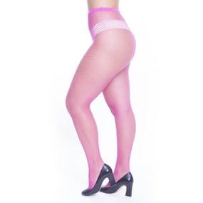 Meia Calça Arrastão Perrutextil (PR003) - Rosa - tabue.com.br