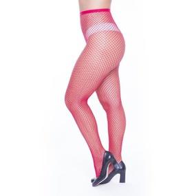 Meia Calça Arrastão Perrutextil (PR003) - Vermelho - tabue.com.br